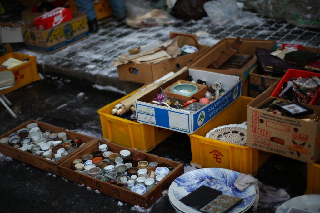 京都 北野天満宮 骨董市